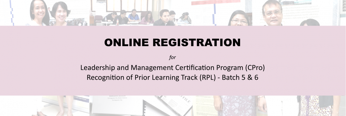 LEADERSHIP AND MANAGEMENT CERTIFICATION PROGRAM  (CPro) RECOGNITION OF PRIOR LEARNING TRACK (RPL)