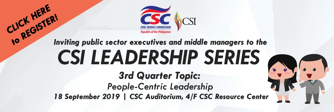 "3rd Quarter Leadership Series Theme: ""People-Centric Leadership"""