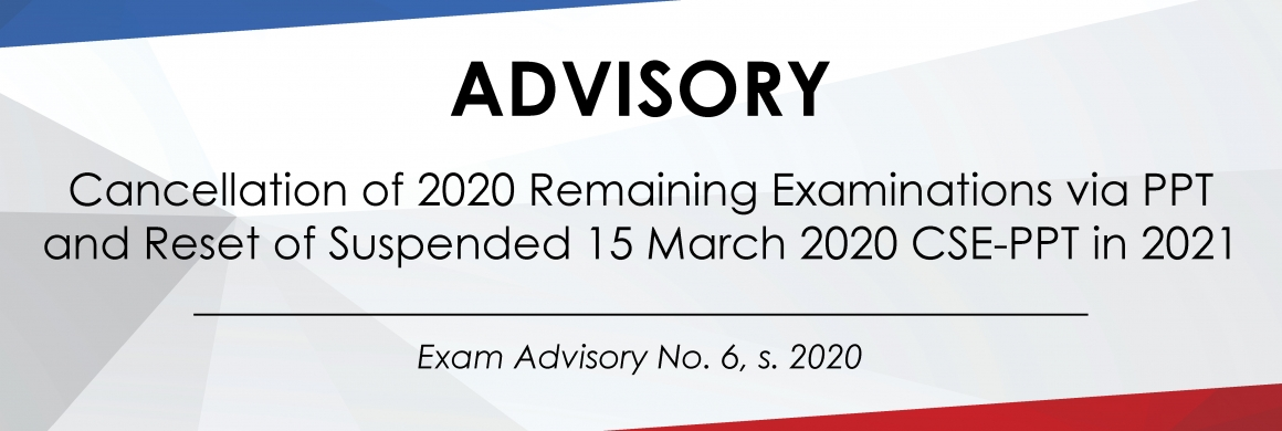 Exam Advisory No. 6, s. 2020