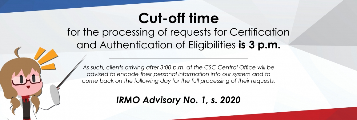 IRMO advisory on processing of requests