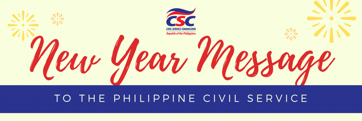 New Year Message to the Philippine Civil Service