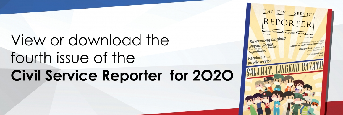 Civil Service Reporter 4th Quarter Issue 2020