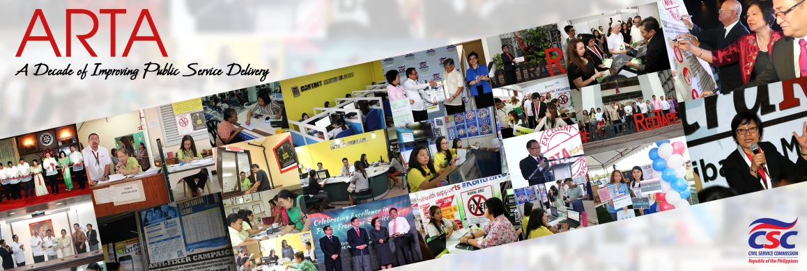 ARTA : A Decade of Public Service Delivery Excellence