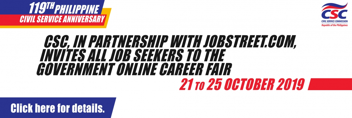 2019 GOVERNMENT ONLINE CAREER FAIR (GOCF)