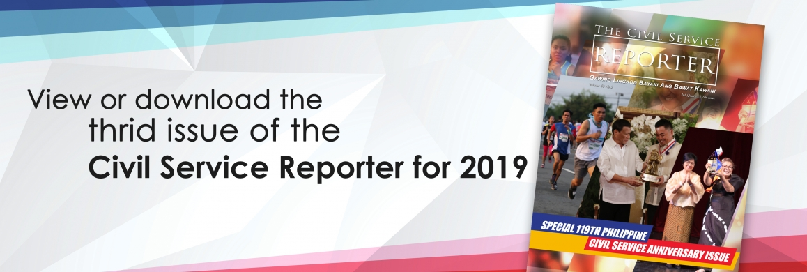 Third issue of the Civil Service Reporter for 2019