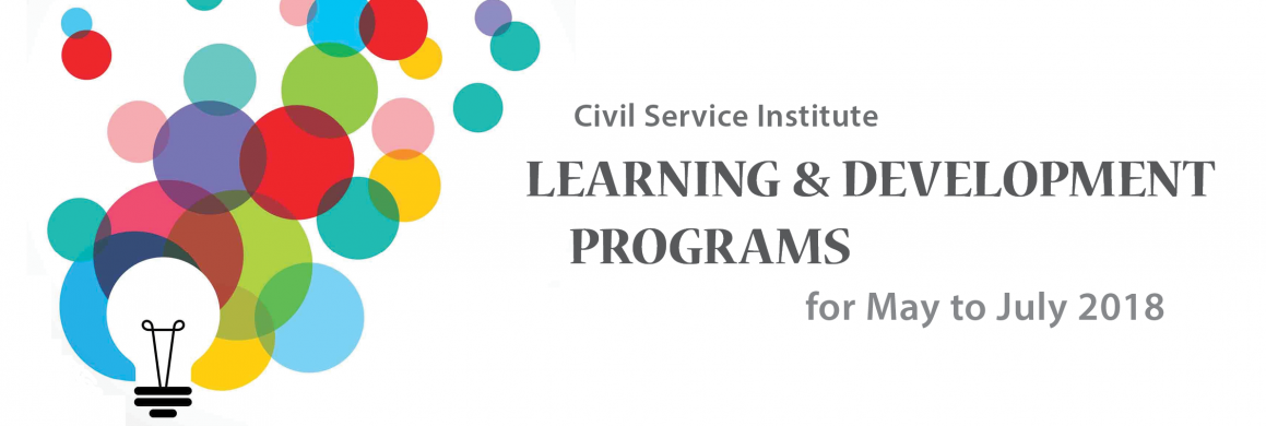 CSI Learning and Development Programs for May to July 2017