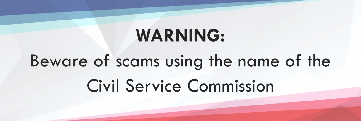 Warning on Scam Using the Name of the Civil Service Commission