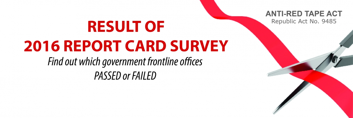 Result of 2016 Report Card Survey