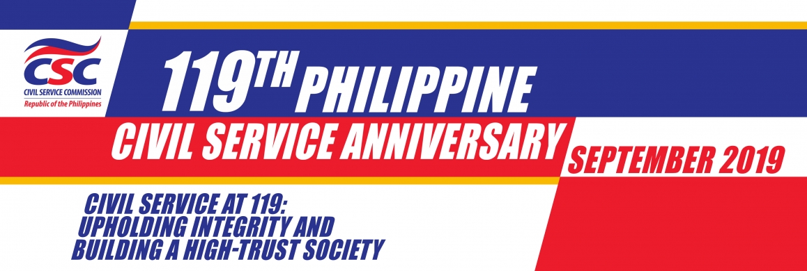 Welcome to the official webpage of the 119th Anniversary of the Philippine Civil Service!